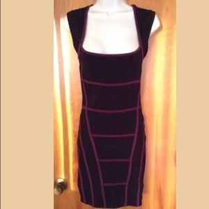 Really Pretty Forever 21 Black and Purple Dress L